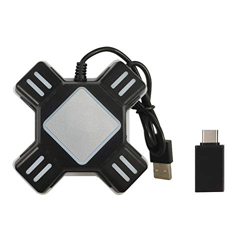 JUST N1 Super Converter Controller Gaming USB Adapter für Maus Tastatur für PS4/PS4 Pro/PS4 Slim/XBOXOne/XBOXOne S/XboxOne X/PS3/PS3 Slim/Switch 9.0 X 9.0 X 2.7 cm schwarz -