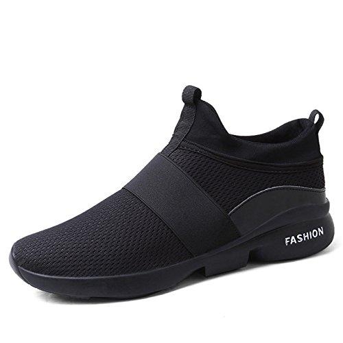 Msjenny Men's Causal Lightweight Slip-On Trainers Multi Sports Road Running Shoes