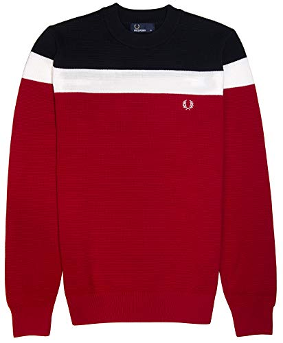 Fred Perry - Jerséi - para Hombre Rojo Winter Red XL