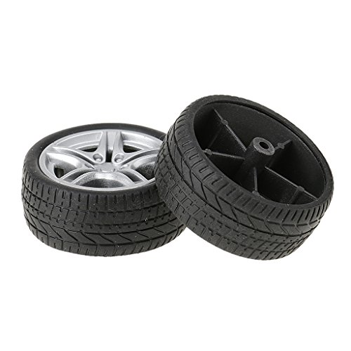 MagiDeal 2 Pieces 48mm Durable Rubber Wheels Toy Tyres DIY toy for RC Car Model Making  available at amazon for Rs.285