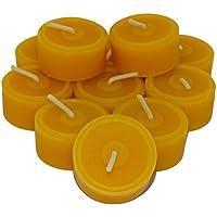AMA-Feinkost 60 St. Teelichter aus 100% Bienenwachs Handgefertigt direkt vom Imker Sparpack Nachfüllpack