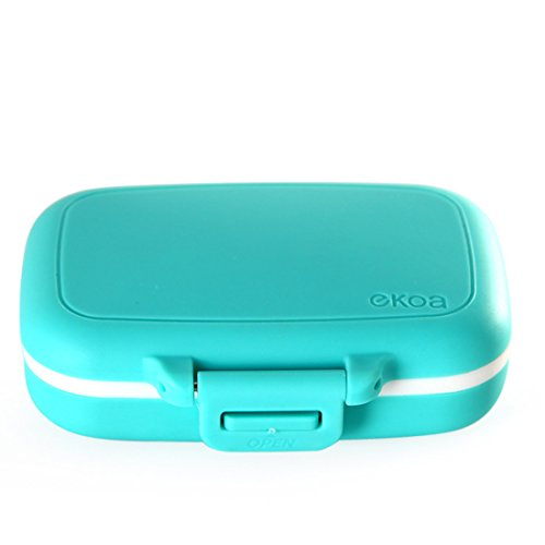 Pillendosen, Vicoki 3 Fächern und Dichtung (Abnehmbar) Vitamin Tablettenbox Tablettendose Pille-Kasten Beweglicher Medizin-Box, 8×6.3×2.5cm - Silikon-tabletten-kasten