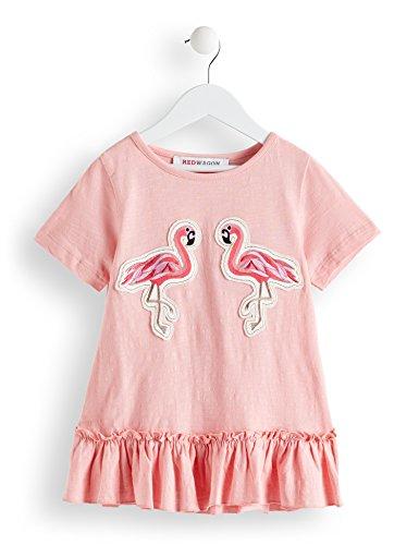 (RED WAGON Mädchen T-Shirt mit Flamingo-Motiv Pink (PINK PINK), 110 (Herstellergröße: 5))