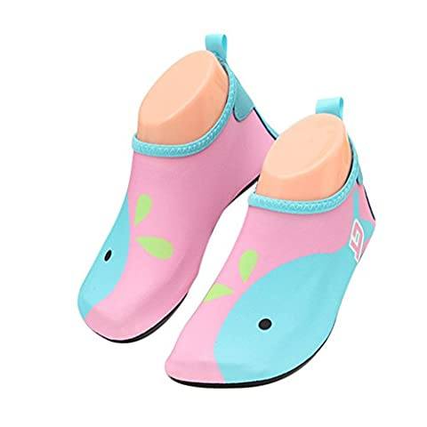 BoodTag Kids Sports Shoes Unisex Water Shoes Folding Barefoot Aqua Socks Shoes for Swimming Diving Surf Yoga Gym Beach Pool (UK 7-8 M Toddler (Tag 27),