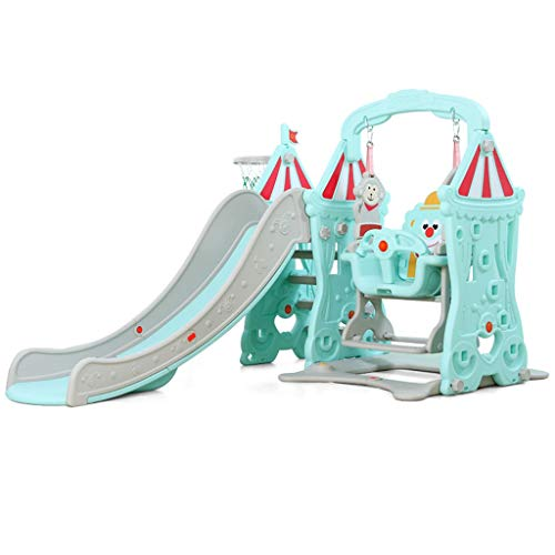 Freistehende Rutschen Rutsche-Schaukel-Schießkombination Für Kinder Indoor Indoor-Haushaltsgeräte Kindergarten Baby-Spielplatz Multi-Funktions-Spielzeug Für Kinder (Color : Green, Size : 152x120cm) (Schaukel Für Rutsche)