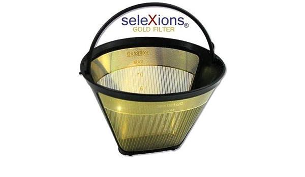 Kaffeefilter Dauerfilter Filtertüte Permanentfilte Gr 4 Goldfilter Metallsieb