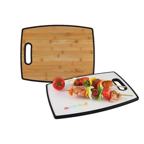 Cutting board/ chopping board Coninx Duce - Meat Board Wood and White - Chopping Boards 305 x 380 x 15 mm - Bread board