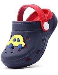 Zuecos Unisex Niños Lindo Sandalias de Playa y Piscina Infantil Niña Niño Antideslizante Zapatillas Verano Zapatos de Jardín Agua