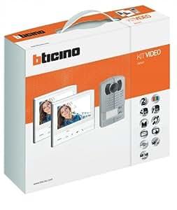 """BTICINO 365621Kit visiophones classe 300V13e et interphone avec ligne 2000Meatal avec caméra, écran tactile couleur 7"""""""