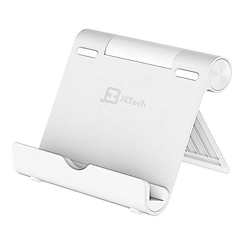 JETech iPad Ständer Verstellbarem Betrachtungswinkel Tragbarer Mini Tablet Halter Haltbare Aluminium für Tablets, E-Reader und Handys - Große Metall-griff-stütze
