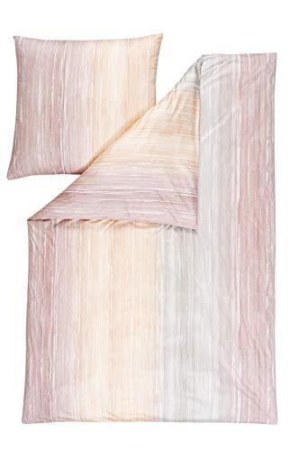 ESTELLA Mako-Interlock-Jersey Bettwäsche Kilian apricot 1 Bettbezug 155 x 220 cm + 1 Kissenbezug 80 x 80 cm