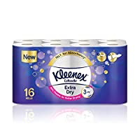 Kleenex Toilet Tissue Extra Dry, 16 Rolls - 160 Sheets x 3 Ply