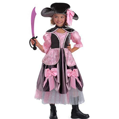 Princess Paradise Piratin Pirat Mädchen Deluxe Kostüm Fasching Halloween Karneval (140) (Princess Paradise Kostüme)