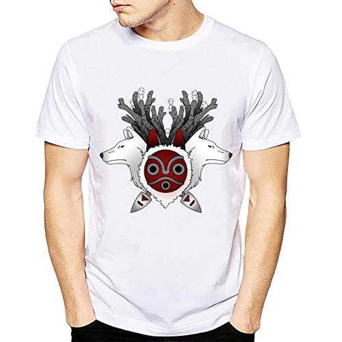 MKDLJY T Shirts 2019 Cartoon Männer T Shirts Wolfs Und Maske Gedruckt T-Shirt Sommer Kurzarm Animel Männer Tops