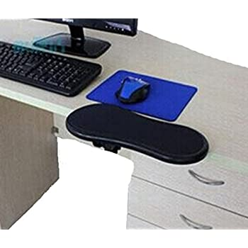 HENGSONG Computer Desk Extender Comfort Arm Wrist Rest Forearm Support Mouse Pad Mat (Black)  sc 1 st  Amazon UK & TRIXES Ergonomic Armrest Mouse Pad / Mat with Clamp for Chair Arm ... islam-shia.org