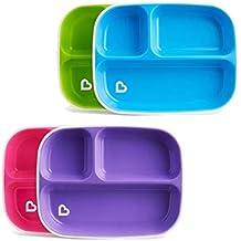 Munchkin Splash - Platos divididos (2 unidades, los colores pueden variar)