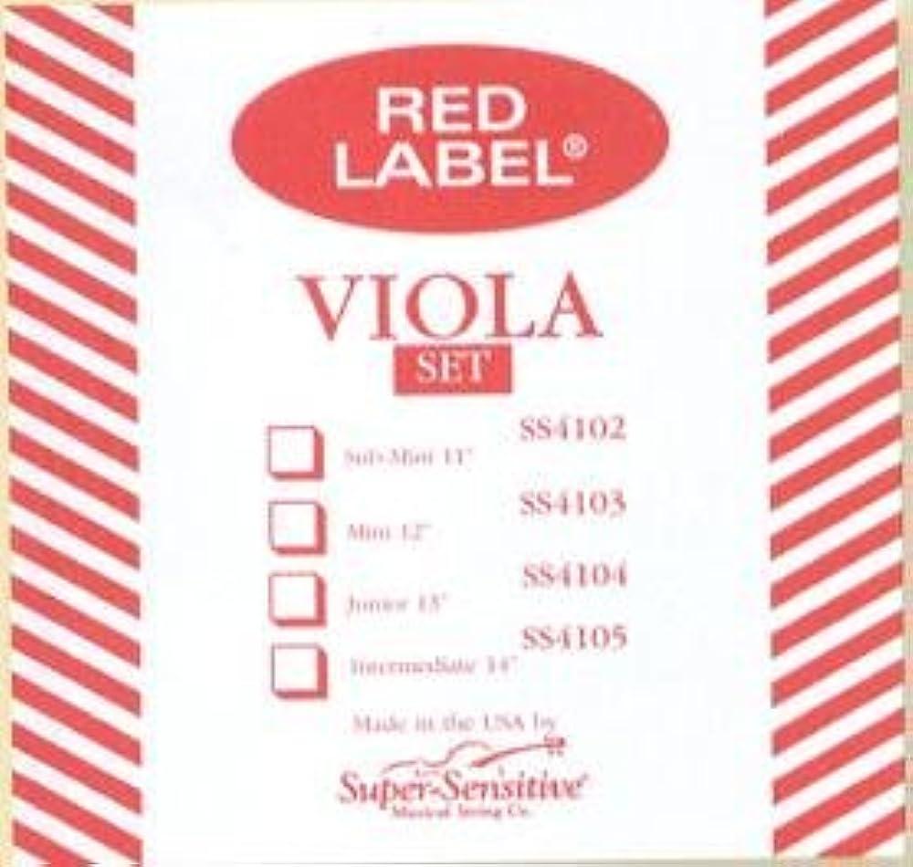 CUERDA VIOLA - Super Sensitive (Red Label 412) (Aluminio) 2ª Medium Viola 4/4
