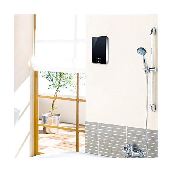 RMXMY Hogar Calentador eléctrico de Agua instantáneo, Termostato Inteligente con Pantalla LED de Tacto de la Ducha del…