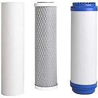 Ohne Markenzeichen Electrodomésticos 10 Pulgadas Filtrar Elementos de filtración Sistema Purificar la Pieza de Recambio Universal for purificador de Agua for Uso doméstico (Color : White)