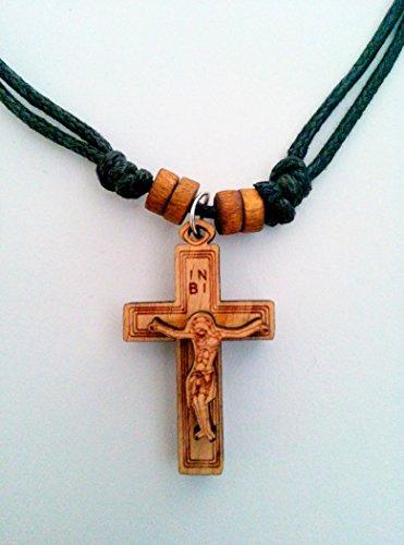 Christian-orthodoxe griechisch Religiöse Anhänger Halskette mit Holz Kreuz–Kruzifix/6