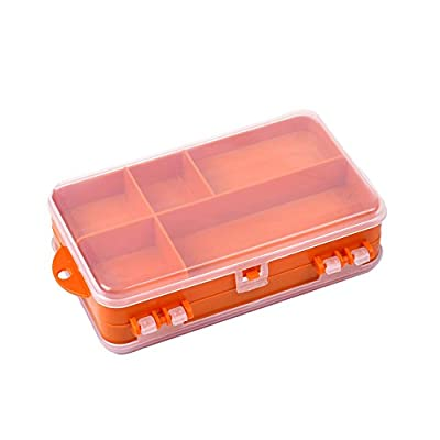 Festnight 14 x 8.3 x 4.1 cm Plastic Bait Storage Box Double Sided Fishing Lure Hook Tackle Box from Festnight
