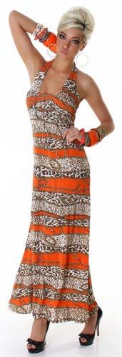 GRAFFITH - Robe -  - Dos nu - À rayures - Sans manche Femme Orange - Orange - Orange