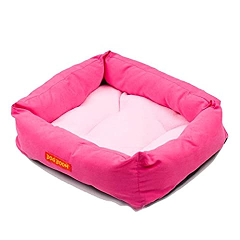 Internet 42cmX35cm Luxury Pet Dog Puppy Cat Warm Bed House Plush Cozy Nest Mat Pad (Hot Pink)