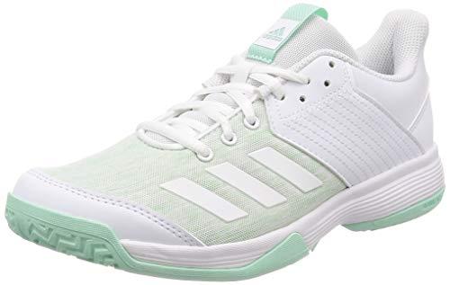 adidas Ligra 6, Zapatos de Voleibol para Mujer,Blanco (Ftwr White/Clear Mint),40 EU