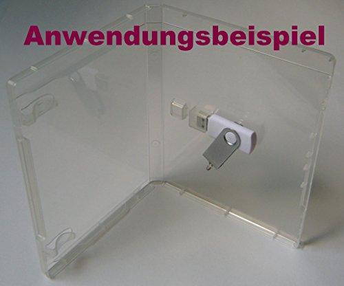 10 Stück Kronenberg24 USB Stick Box BD Hülle für USB Stick transparent