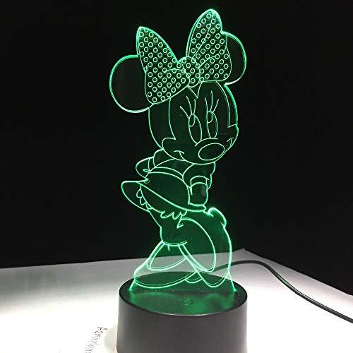 Lixiaoyuzz 3D Nachtlampe Cartoon Maus Led Rgb 7 Farbwechsel Schreibtisch Tisch Usb Lampe Für Kind Kinder Geschenk Neuheit Wohnkultur, Touch & Fernbedienung