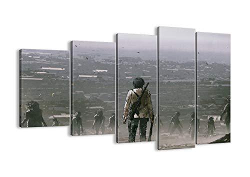 Bild auf Leinwand - Leinwandbilder - fünf Teile - Breite: 150cm, Höhe: 100cm - Bildnummer 4101 - fünfteilig - mehrteilig - zum Aufhängen bereit - Bilder - Kunstdruck - EG150x100-4101