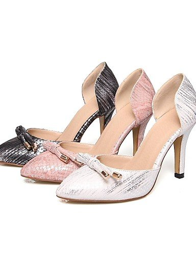 WSS 2016 Chaussures Femme-Bureau & Travail / Habillé / Soirée & Evénement-Noir / Rose / Blanc-Talon Aiguille-Talons / D'Orsay & Deux Pièces / Bout white-us6.5-7 / eu37 / uk4.5-5 / cn37