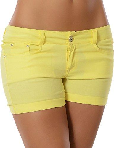 Damen Hotpants (weitere Farben) No 13289 Gelb