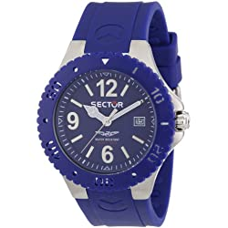 Sector Men's Quartz Watch with Blue Dial Analogue Display and Blue PU Strap R3251111005