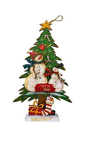 Red Carpet Schneemann Let it Snow Weihnachten Tree LED Light up 25,4x 43,2cm Holz Tischplatte Figur (Billig-stuffers Für Männer)