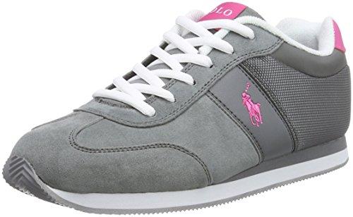Polo Ralph Lauren  DUMA, Sneakers basses garçon Gris - Grau (Grey w Bright pink)