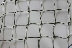 Katzennetz Katzenschutznetz Balkonnetz - oliv - Masche 5 cm - Stärke: 1,2 mm - Breite: 2,00 m Meterware