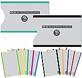 (12 Packung) RFID Blocking Hüllen - für Kreditkarte & ID Schützhüllen, ideal für im Portemonnaie/Passschutzhülle – Voller Schutz RFID & NFC