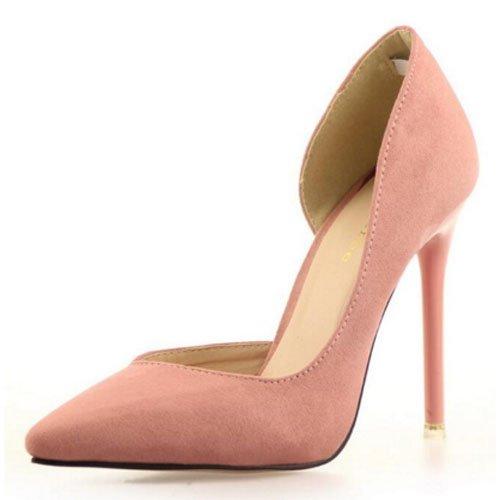 FLYRCX In stile europeo semplice moda punta tacco sottili tacchi alti scarpe di partito B