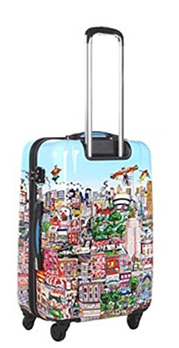 ... 50% SALE ... PREMIUM DESIGNER Hartschalen Koffer - Heys Künstler Fazzino New York - Trolley mit 4 Rollen Medium New York