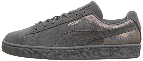 PUMA Women s Suede Lunalux WN s Sneaker  Smoked Pearl  8 M US