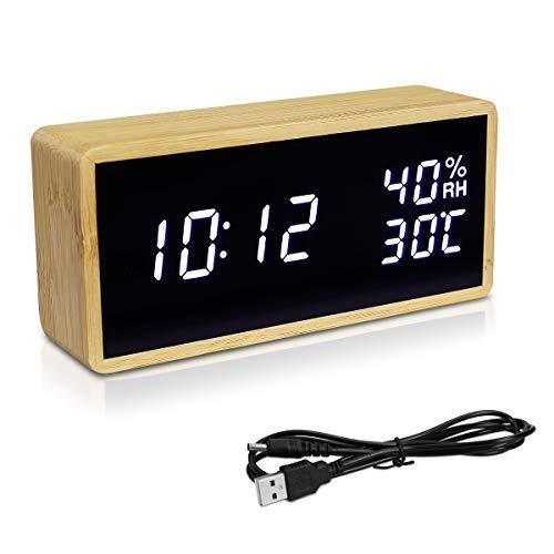 Alarma, hora, fecha, temperatura y humedad, todo en el mismo lugar. Este reloj despertador digital te muestra toda la información importante. Además tiene un diseño compacto que quedará perfecto en tu casa.TODO EN 1Mira la hora, la temperatura interi...