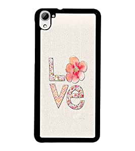 PrintDhaba Love D-2171 Back Case Cover for HTC DESIRE 826 (Multi-Coloured)