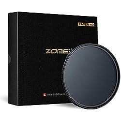 ZOMEI Nouvelle Génération Variable Densité Neutre Gris ND 2-400 Filtre à Lentille 49mm pour Appareil Photo Reflex