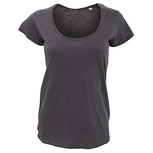 SOLS Damen T-Shirt, Kurzarm, tiefer Rundhalsausschnitt, leicht durchscheinend Schwarz