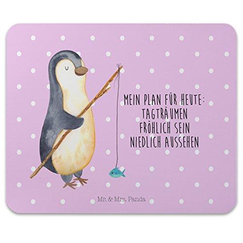 Mr. & Mrs. Panda Mauspad Druck Pinguin Angeler - 100% handmade in Norddeutschland - Pinguin, Pinguine, Angeln, Angler, Tagträume, Hobby, Plan, Planer, Tagesplan, Neustart, Motivation, Geschenk, Freundinnen, Geschenkidee, Urlaub, Wochenende Mouse Pad, Mousepad, Computer, PC, Männer, Mauspad, Maus, Geschenk, Druck, Schenken, Motiv, Arbeitszimmer, Arbeit, Büro