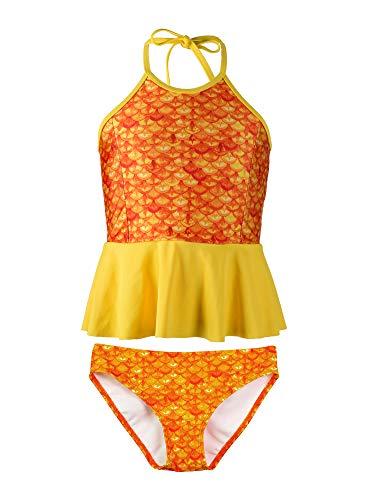 Fin Fun Mermaidens Kostüm für Mädchen, Motiv: Meerjungfrau, TPT4-TS-BT2-TS-M, Orange, TPT4-TS-BT2-TS-M M