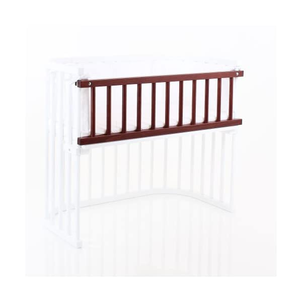 babybay 160203 Colonial Varnished Guardrail for Maxi/Box Spring, One Size, Multi-Colour babybay Made of solid wood Comes with the locking clip Fit for maxi and box spring co-sleeper cot 3