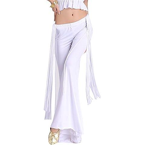 Sripe laterale per la danza del ventre tribale con cristalli e nappe, 2 pezzi, in Costume da ballo
