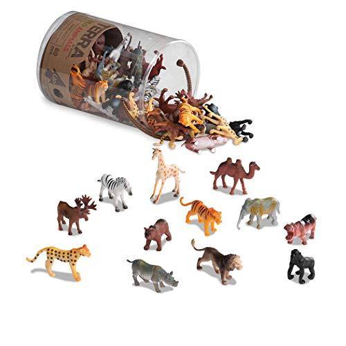 Battat AN6004Z Terra - Figurines juguetes de animales salvajes en un tubo...